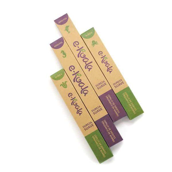 Pack familiar de cepillos de dientes de bambú