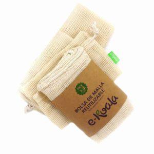 Bolsas de malla pequeña para compra de fruta y verdura a granel