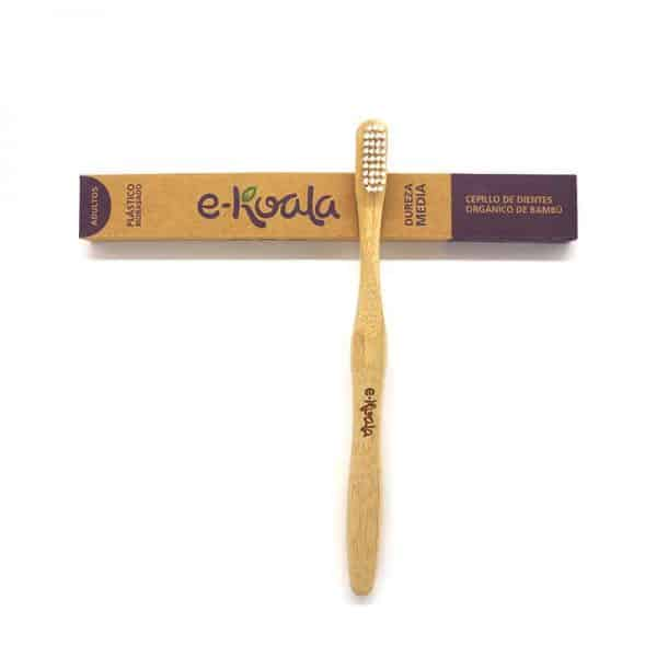 Cepillo de dientes de bambú de dureza media
