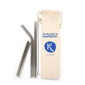 Pajitas reutilizables de acero - Family pack x6